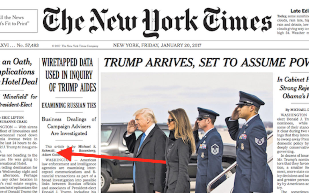 In bizarre plot to discredit Trump, NY Times says NY Times is fake ...